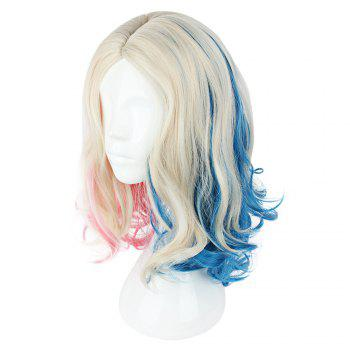 Cosplay Long Curly Mixed Colors Pink Blue Wigs - COLORMIX 591I