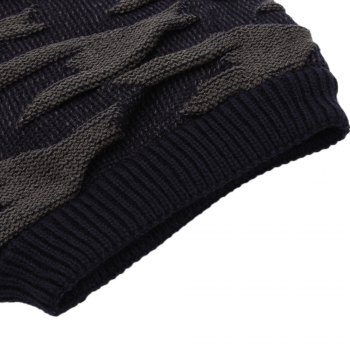 Casual Winter Elastic Band Warm Ear Care Knitted Hat for Men - CADETBLUE