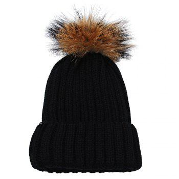 Fashionable Winter Venonat Design Pure Color Knitted Hat for Women