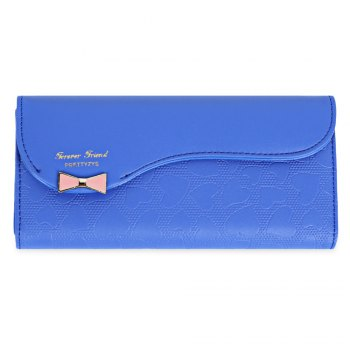 Guapabien Bowknot Cute Love Girls Long Wallet Purse - SAPPHIRE BLUE SAPPHIRE BLUE