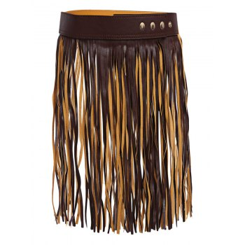 Popular Long Tassel Skirt PU Belt