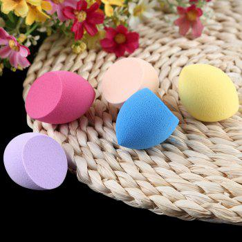 Huamianli 5pcs Foundation Smooth Blender Mixing Sponge Makeup Cosmetics Puff - COLORMIX