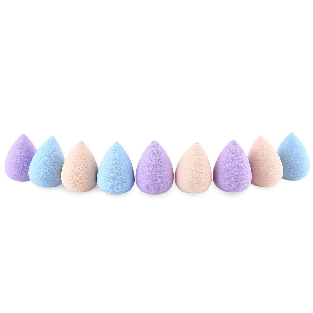 Huamianli 9pcs Foundation Makeup  Smooth Powder Sponge Puff - COLORMIX WATER DROP
