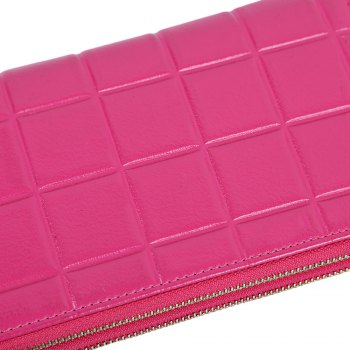 Embossed Fringed Bi Fold Zip Around Wallet -  ROSE MADDER