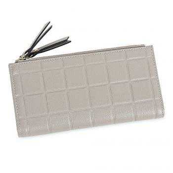 Embossed Fringed Bi Fold Zip Around Wallet - GRAY GRAY