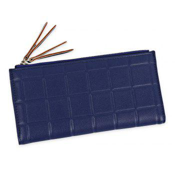 Embossed Fringed Bi Fold Zip Around Wallet