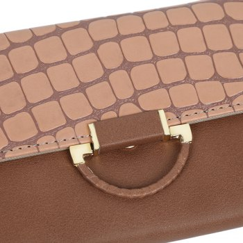Guapabien Multi-card Leather Folder Old Classical Style Women Wallet -  KHAKI