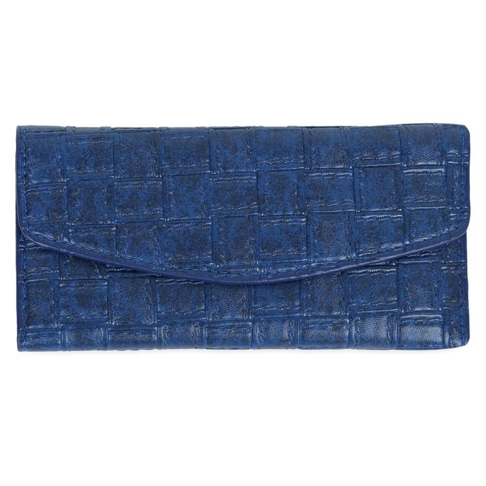Embossed Clutch Checkbook Wallet with Multi Card Slots