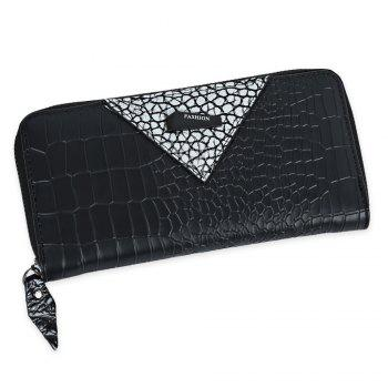 Zip Around Long Crocodile Wallet