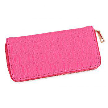 Guapabien Fashion Geometric Patterns Square Cross-section Large Capacity Women Clutch Wallet