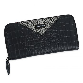 Zip Around Long Crocodile Wallet - GOLDEN GOLDEN