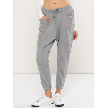 Casual Drawstring Harem Yoga Pants