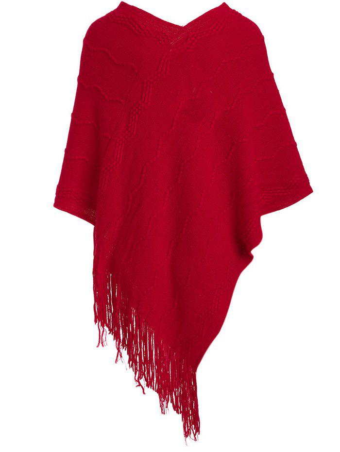 Fashionable Pure Color Women Warm Scarf - RED ONE SIZE(FIT SIZE XS TO M)