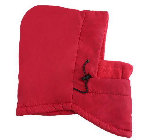 Outdoor Winter Multifunction Warm Wind Resistance Hat for Unisex - RED
