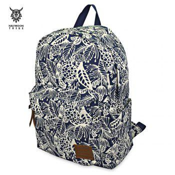 HALFMOON TRIBE Casual Canvas Shoulder Bag Print Student Shopping Trip Backpack