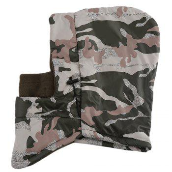 Outdoor Multifunction Camouflage Design Double Layer Wind Resistance Hat for Unisex