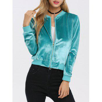 Old Classical Solid Color Long Sleeve Short Baseball Coat for Women