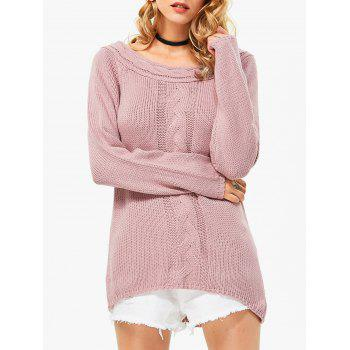 Chic Off The Shoulder Pure Color Women Pullover