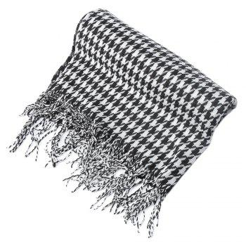 Old Classical Houndstooth Design Warm Oblong Shawl Wrap Scarf for Women