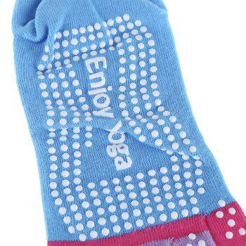 Yoga Socks Non-slip Skid with Full Toe Grips -  LAKE BLUE