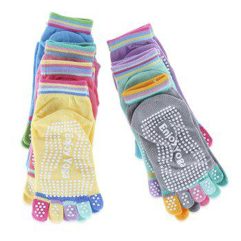 Yoga Socks Non-slip Skid with Full Toe Grips -  LIGHT GREEN