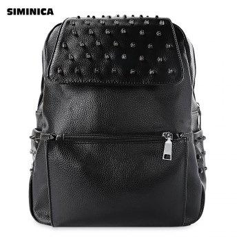 SMINICA Rivet Design Faux Leather Women Trendy Backpack