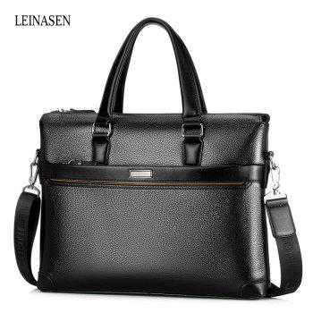 LEINASEN Classic PU Leather Convertible Men Business Tote Bag