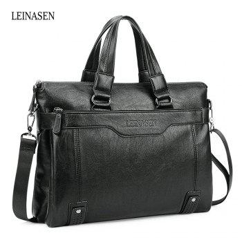LEINASEN Brief PU Men Convertible Shoulder Bag Business Case