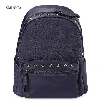 SMINICA Chic Rivet Embellished PU Leather Women Backpack
