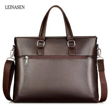LEINASEN Classic Waterproof PU Men Convertible Tote Bag