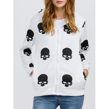 Fashion Hooded Long Sleeve Print Zipper Type Women Coat
