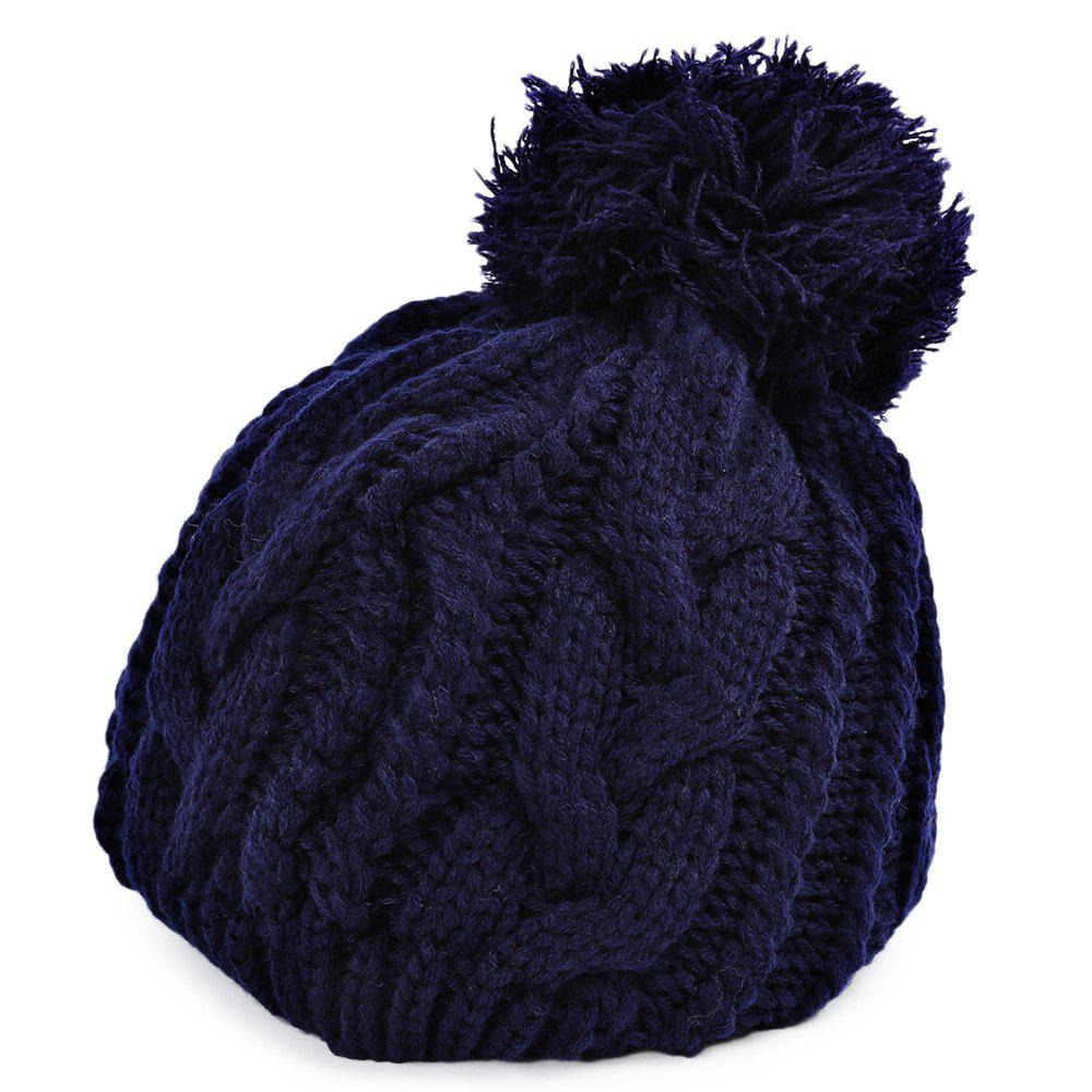 Winter Venonat Decoration Warm Knitted Hat for Unisex  1pcs hip hop winter unisex warm knitted cap beanies snap slouch skullies bonnet beanie hat gorro high quality free shipping