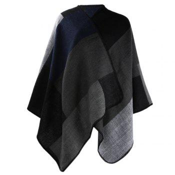 Winter Ethnic Style Color Block Warm Blanket Scarf for Women