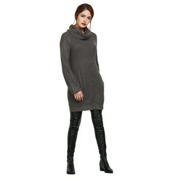 Long Sleeve Cowl Neck Jumper Dress