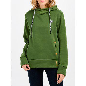 Casual Long Sleeve Hooded Pocket Design Hoodie for Women