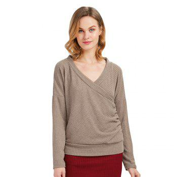 Trendy Long Sleeve V Neck Knitwear for Women