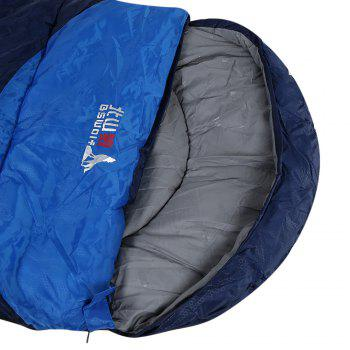BSWOLF Outdoor Adult Foldable Splicing Water Resistant Envelope Sleeping Bag - DEEP BLUE 1.8 KG