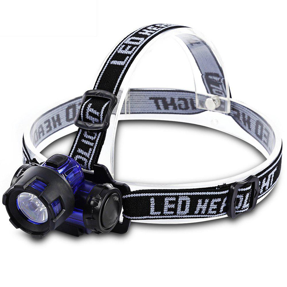 LEO Water Resistant Hiking LED Head Light Headlamp Flashlight for Camping Night Fishing - BLACK