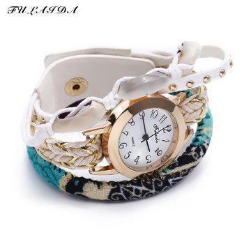 FULAIDA Female Quartz Watch Shell Decoration Leather Band Fashion Bangle Wristwatch