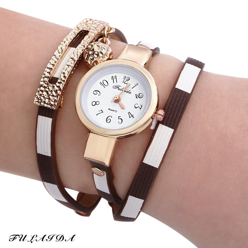 FULAIDA Women Quartz Watch Leather Band Bangle Fashion Wristwatch 2017 new relojes cartoon children watch captain america watches fashion kids cute relogio leather quartz wristwatch boy gift