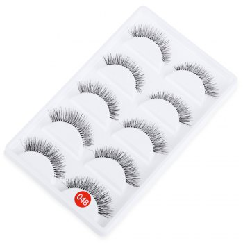 Buy 5 Pairs Hand Made Crossover Design Professional Thick Makeup Fake Eyelashes BLACK