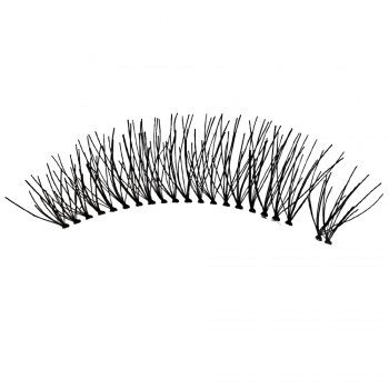 5 Pairs Hand Made Crossover Design Professional Thick Makeup Fake Eyelashes - BLACK
