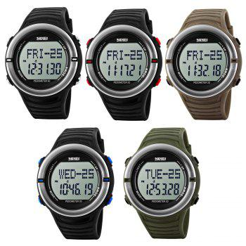 Skmei 1111 Heart Rate Sports Digital Watch with Pedometer Function Water Resistant - EARTHY
