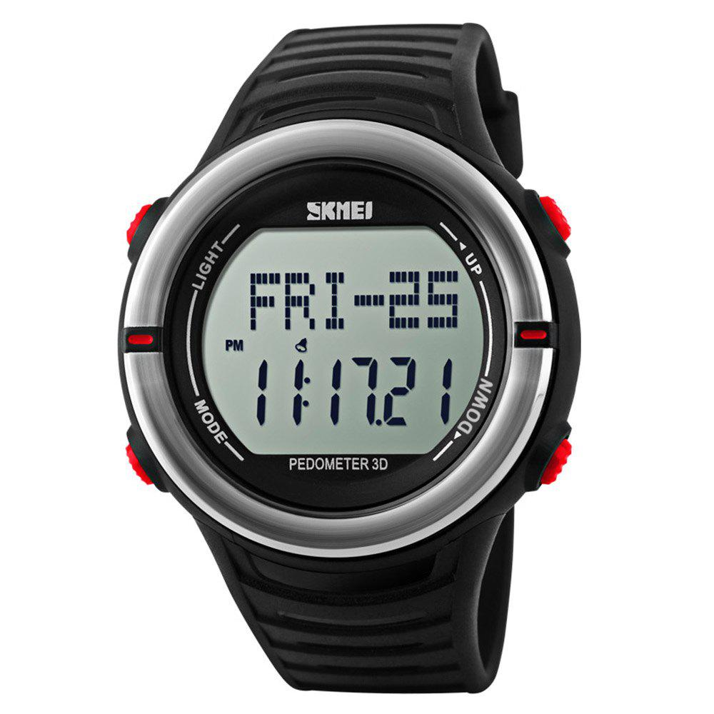 Skmei 1111 Heart Rate Sports Digital Watch with Pedometer Function Water Resistant - RED