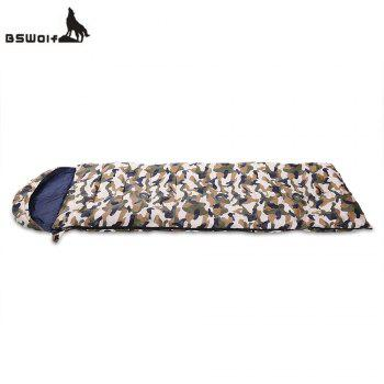 BSWOLF Outdoor Adult Foldable Splicing Water Resistant Camouflage Envelope Sleeping Bag