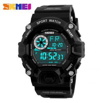 Skmei 1019 Military LED Watch Water Resistant Day Date Alarm Stopwatch Sports Wristwatch