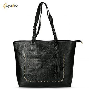 Guapabien Fashion Old Classical  Fringed Solid Color Handbag Tote Shoulder Messenger Crossbody Bag for Women