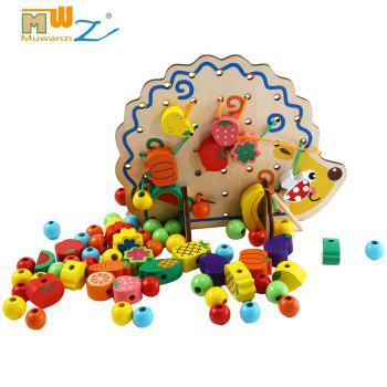 Muwanzi Colorful Wooden Beaded Toys Children Intelligence Game