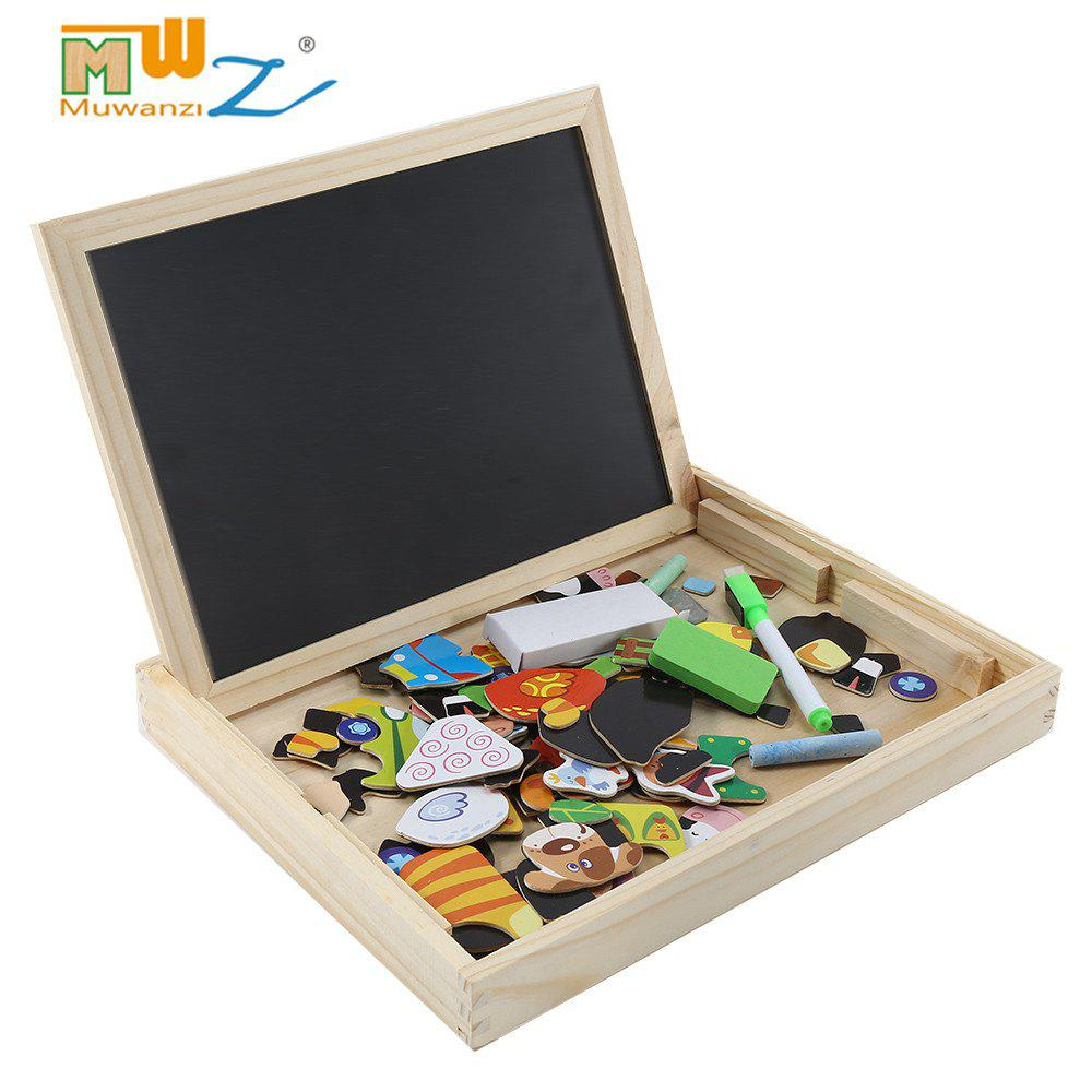 Muwanzi Colorful Wooden Magnetic Drawing Board Puzzle Learning Education Toys for Children simingyou wooden puzzles for children forest park multifunctional magnetic kids puzzle drawing board educational toys wdx41