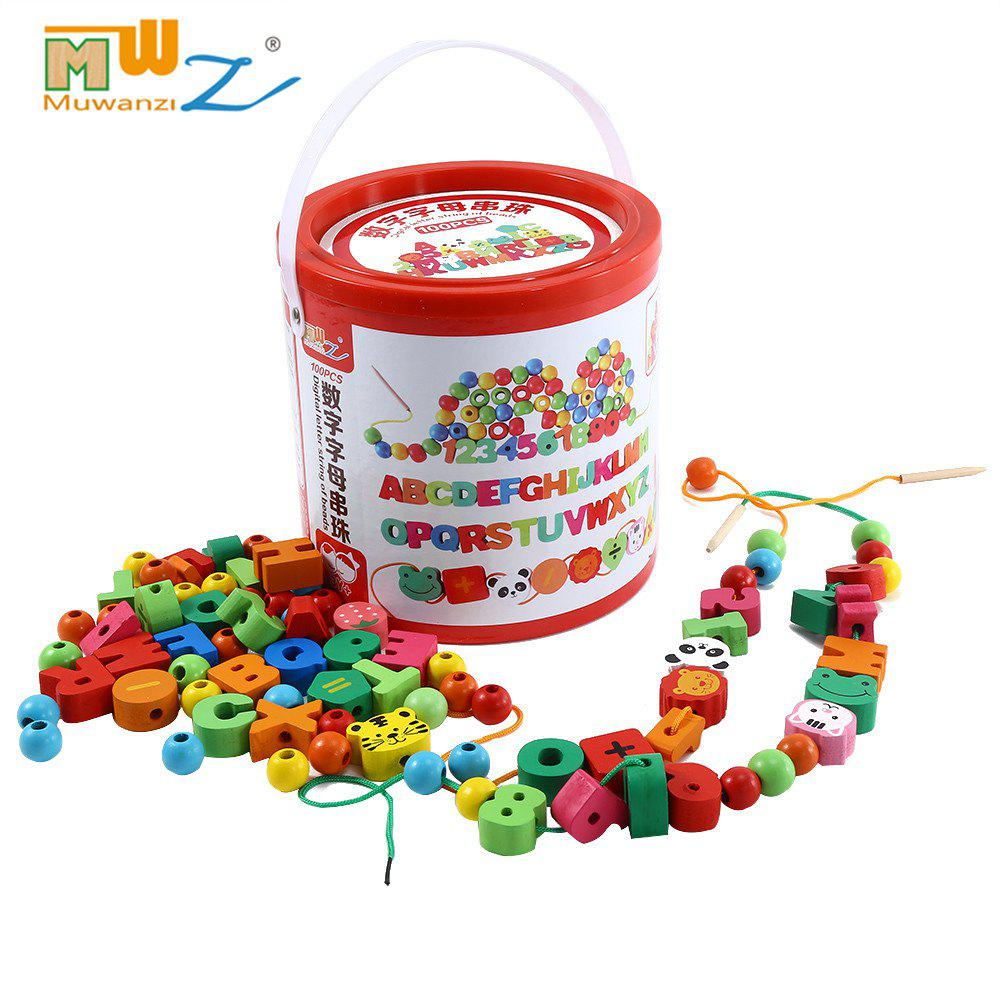 Muwanzi Wooden Desktop Beaded Toys Educational Intelligence Game for Children free shipping color toner powder ce310a ce311a ce312a ce313a compatible for hp cp1025 m175a m175nw c m y bk 4kg lot